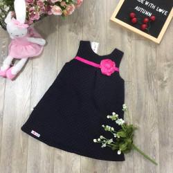 váy dáng A bông trần hoa lụa