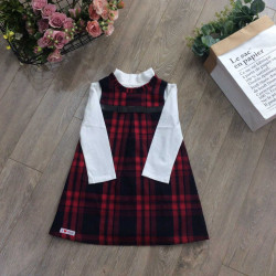 Váy thu kẻ dáng chữ A - V76315